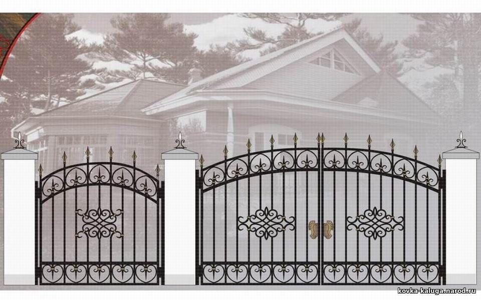 Ворота с калиткой калуга феникс ворота ламбин о л